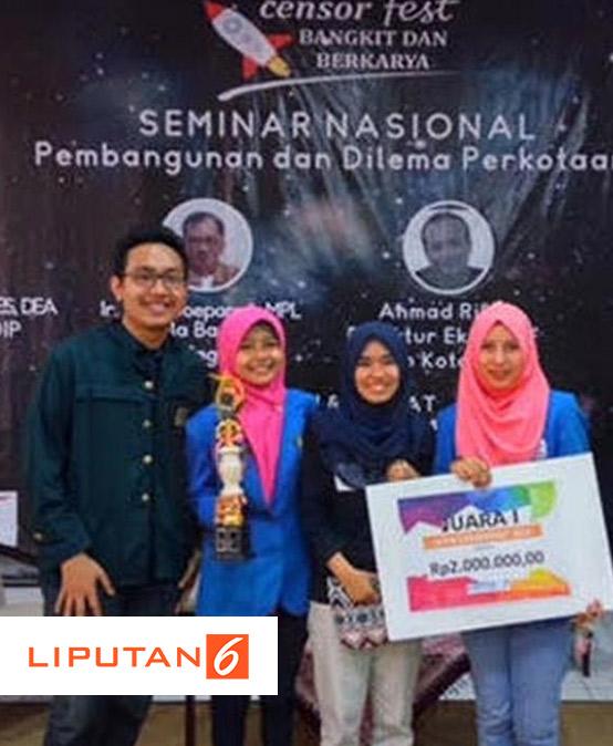 Mahasiswa President University Juara 1 LKTI Tingkat Nasional 2016